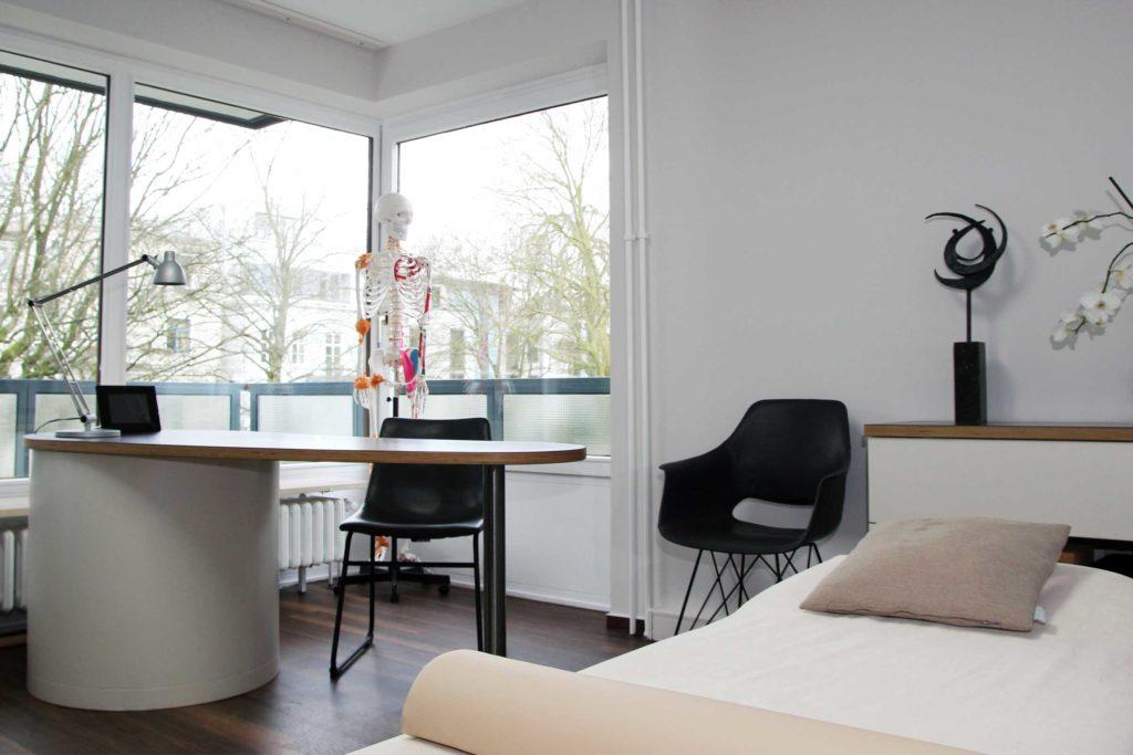 Einblick in die Praxis für Osteopathie Johannes Fetzer in Hamburg
