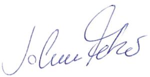 Unterschrift von Johannes Fetzer, Osteopathie und Physiotherapie