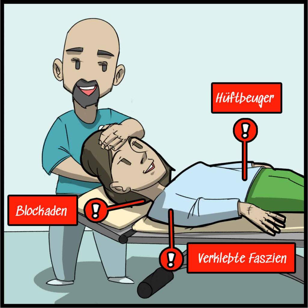 Wir behandeln gezielt die Ursachen der Schmerzen mit Osteopathie und Physiotherapie